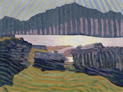 View Capolago, Blick Auf Den Über Capolago Silsersee-Giovanni Giacometti-Giclee Print
