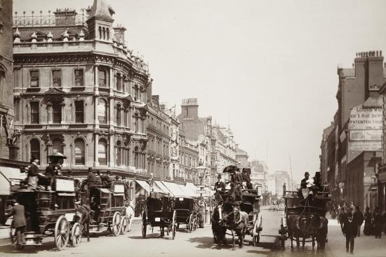 View down Oxford Street, London, 19th century-Unknown-Photographic Print