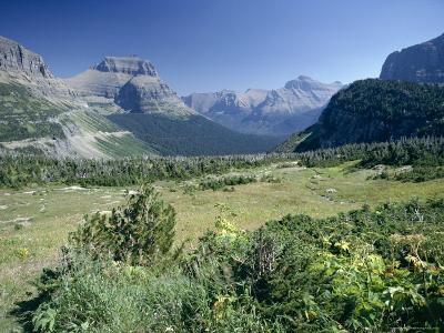 View East from Logan Pass, Glacier National Park, Montana, USA-Julian Pottage-Photographic Print