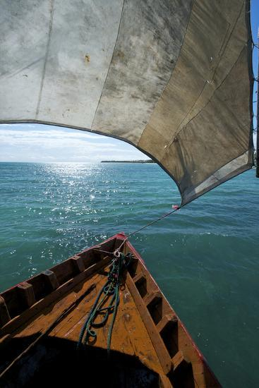 View From a Fishing Dhow Off the Coast of Matemo Island, Mozambique-Jad Davenport-Photographic Print