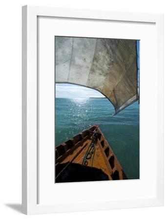 View From a Fishing Dhow Off the Coast of Matemo Island, Mozambique-Jad Davenport-Framed Photographic Print