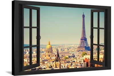 View From A Paris Window--Stretched Canvas Print