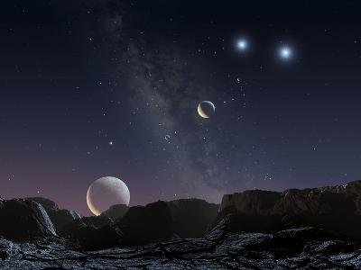 View From An Alien Planet, Artwork-Chris Butler-Photographic Print