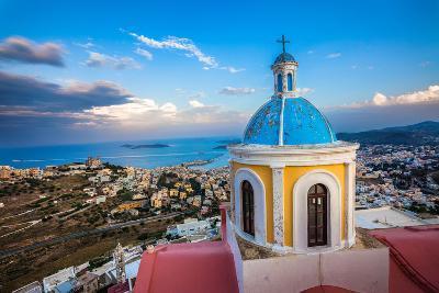 View from Basilica San Giorgio - Ano Syros, Greece-EvanTravels-Photographic Print