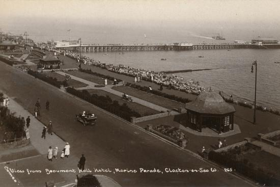 'View from Beaumont Hall Hotel, Marine Parade, Clacton-on-Sea', c1925-Unknown-Photographic Print