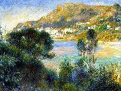 View From Cap Martin of Monte Carlo, c.1884-Pierre-Auguste Renoir-Giclee Print