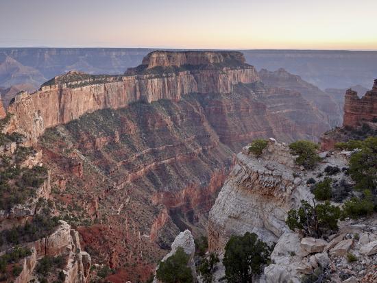 View From Cape Royal at Dusk, North Rim, Grand Canyon National Park, Arizona, USA-James Hager-Photographic Print