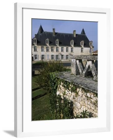 View from Chateau De La Roche Courbon Courtyard, Saint-Porchaire, Poitou-Charentes, France--Framed Giclee Print
