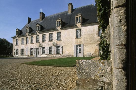 View from Chateau De La Roche Courbon Courtyard, Saint-Porchaire, Poitou-Charentes, France--Giclee Print
