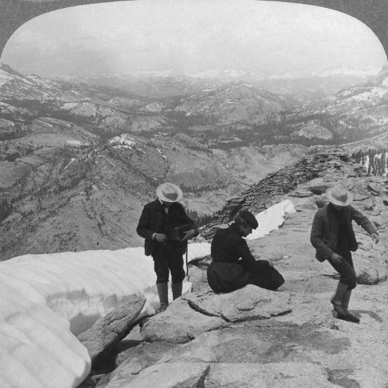 View from Clouds Rest over Tenaya Lake to the Distant Matterhorn, California, USA, 1902-Underwood & Underwood-Giclee Print