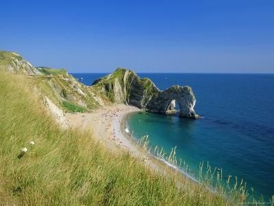 View from Coastal Path of Durdle Door, Dorset, England-Ruth Tomlinson-Photographic Print