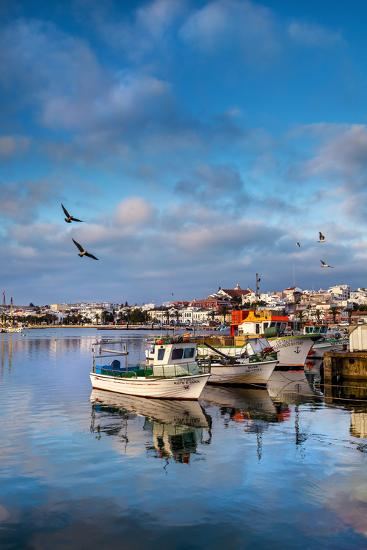 View from Fishing Harbour Towards Old Town, Lagos, Algarve, Portugal-Sabine Lubenow-Photographic Print
