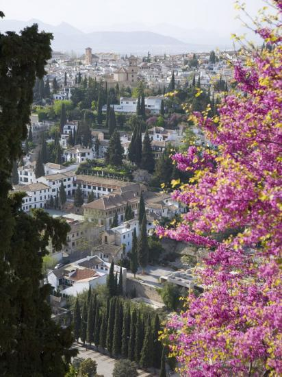 View from Gardens of the Generalife to the Albaicin District, Granada, Andalucia-Ruth Tomlinson-Photographic Print