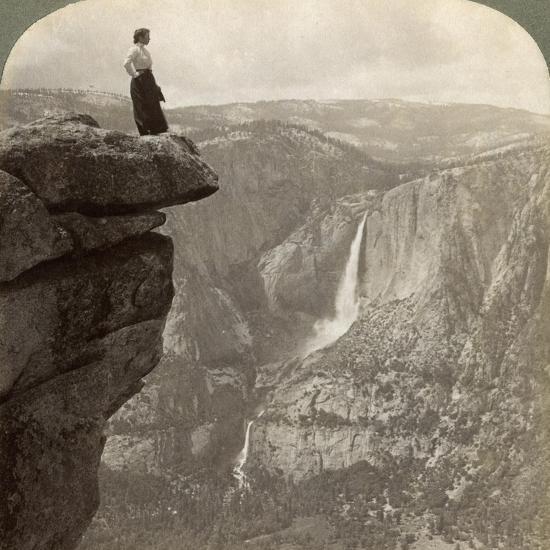 View from Glacier Point, Yosemite Valley, California, USA, 1902-Underwood & Underwood-Giclee Print