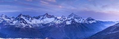 View from Gornergrat Above Zermatt, Valais, Switzerland-Jon Arnold-Photographic Print