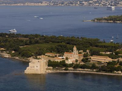 View From Helicopter of Lerins Abbey, Ile Saint-Honorat, Iles De Lerins, Provence, France-Sergio Pitamitz-Photographic Print