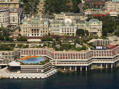 View From Helicopter of the Casino, Monte Carlo, Monaco, Cote D'Azur, Europe-Sergio Pitamitz-Photographic Print