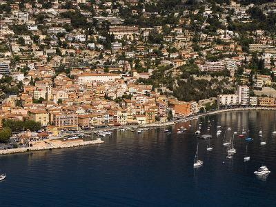 View From Helicopter of Villefranche, Alpes-Maritimes, French Riviera, France-Sergio Pitamitz-Photographic Print