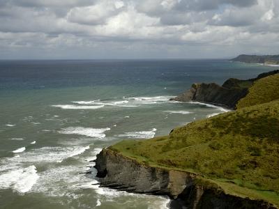 View from High, Basque Coast, Wild, Spain-Groenendijk Peter-Photographic Print
