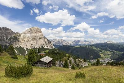 View from High Route of Kolfuschg in the Val Badia, in the Valley of Corvara, Dolomites-Gerhard Wild-Photographic Print