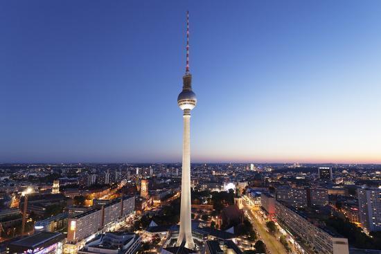 View from Hotel Park Inn over Alexanderplatz Square, Berliner Fernsehturm TV Tower, Berlin, Germany-Markus Lange-Photographic Print