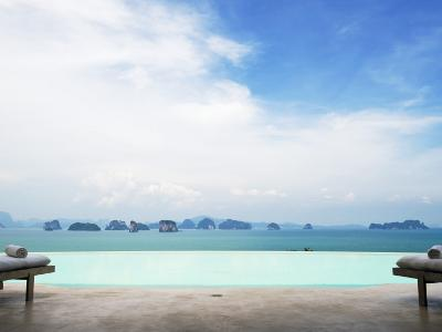 View from Infinity Pool at Six Senses Destination Spa Phuket-Christian Aslund-Photographic Print
