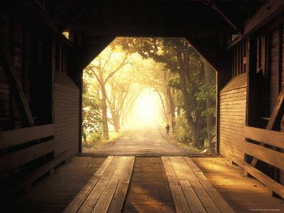 View from Inside a Covered Bridge in Virginia's Shenandoah Valley-Richard Nowitz-Photographic Print