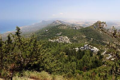View from Kantara Castle, North Cyprus-Peter Thompson-Photographic Print