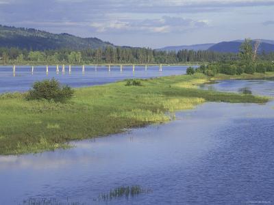 View from Lake Road Bridge, Pend Oreille River, Washington, USA--Photographic Print