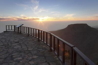 View from Mirador De Igualero over Barranco Del Erque to Table Mountain Fortaleza-Markus Lange-Photographic Print