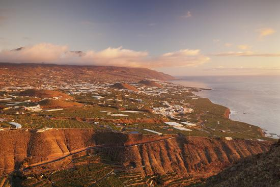 View from Mirador El Time over the West Coast to Cumbre Mountains, La Palma, Canary Islands, Spain-Markus Lange-Photographic Print