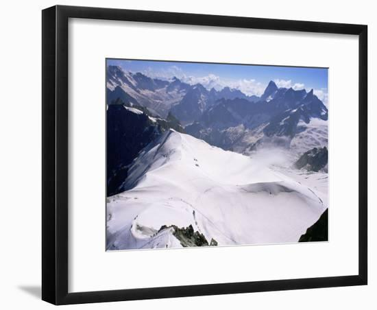 View from Mont Blanc Towards Grandes Jorasses, French Alps, France-Upperhall Ltd-Framed Photographic Print