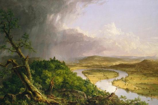 View from Mount Holyoke, Northampton, Massachusetts, after a Thunderstorm—The Oxbow, 1836-Thomas Cole-Giclee Print