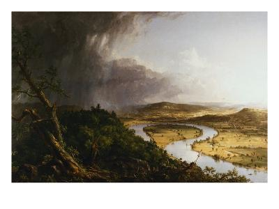 View from Mount Holyoke, Northampton, Massachusetts, after a Thunderstorm - The Oxbow-Thomas Cole-Giclee Print