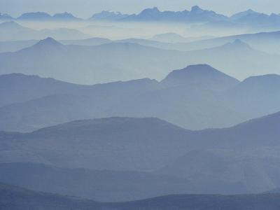 View from Mount Ventoux Looking Towards the Alps, Rhone Alpes, France, Europe-Charles Bowman-Photographic Print