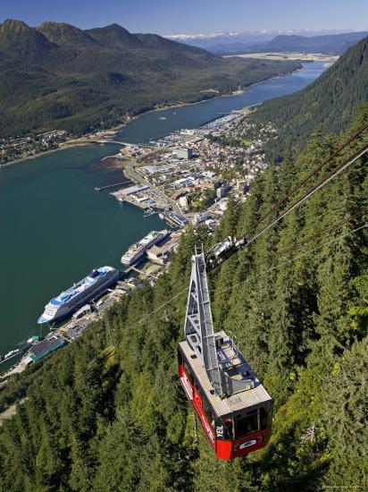 View from Mt. Robert'S, Juneau, Alaska, USA-Walter Bibikow-Photographic Print
