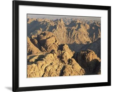 View from Mt. Sinai at Sunrise, Egypt-Rolf Nussbaumer-Framed Photographic Print