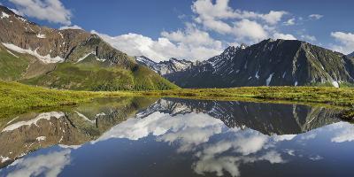 View from Oberberg, Blauer Kofel, Rotes Beil, Mountain Lake, Pfitscher Tal (Valley-Rainer Mirau-Photographic Print