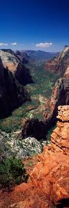 View from Observation Point, Zion National Park, Utah, USA