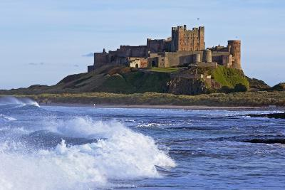 View from Ocean of Bamburgh Castle-Design Pics Inc-Photographic Print