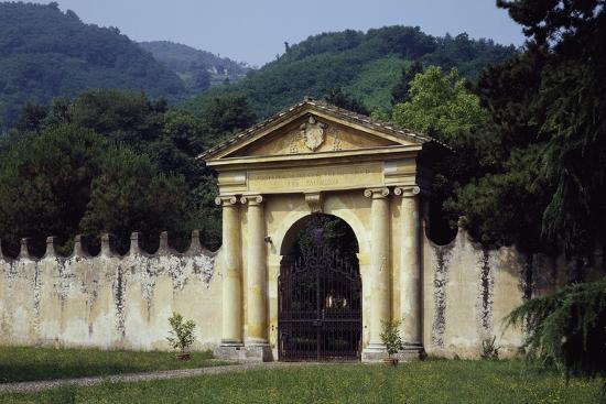 View from Park's Main Entrance with Dedication to Alvise Pisani--Giclee Print