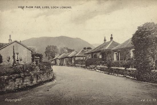 View from Pier, Luss, Loch Lomond--Photographic Print