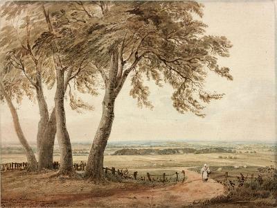 View from Polesden, Surrey, 1800-John Varley-Giclee Print
