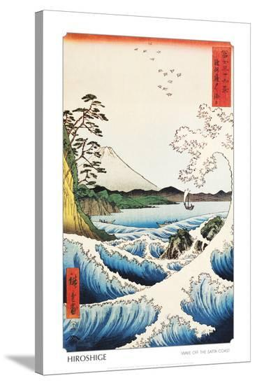 View from Satta Saruga-Ando Hiroshige-Stretched Canvas Print