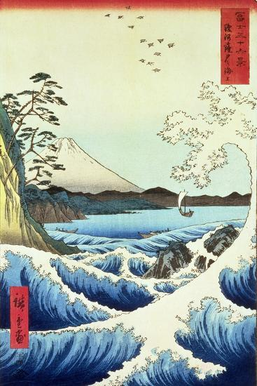 View from Satta Suruga Province-Ando Hiroshige-Giclee Print