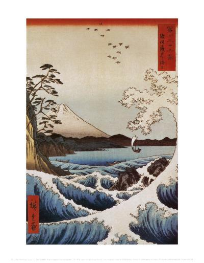 View from Satta Suruga-Ando Hiroshige-Art Print