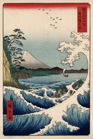 View from Satta Suruga-Ando Hiroshige-Art Print