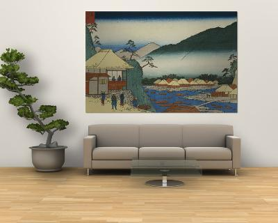 "View from Seven Hot Springs at Hakone""""-Ando Hiroshige-Giant Art Print"