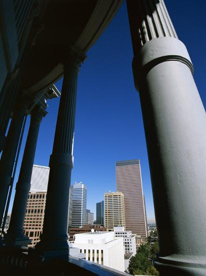 View from State Capitol of Downtown Skyline, Denver, Colorado, USA-Jean Brooks-Photographic Print