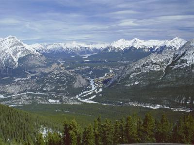 View from Sulphur Mountain, Banff, Rocky Mountains, Alberta, Canada, North America-Rob Cousins-Photographic Print